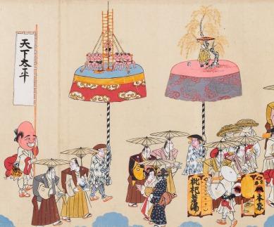 「小浜祇園祭礼絵巻」部分(小浜市指定有形民俗文化財、廣嶺神社所蔵)