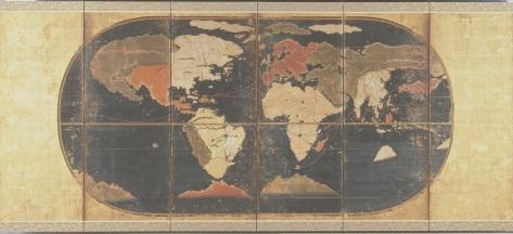 「世界及日本図〈八曲屏風〉」(重要文化財・当館所蔵)