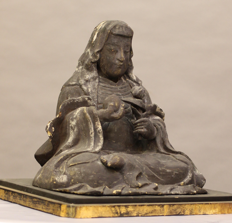 木造 八百比丘尼像(神明神社所蔵、室町時代)