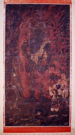 不動明王三童子像 重要文化財 萬徳寺蔵 鎌倉初期。都の仏教文化の若狭への伝来を端的に示す優品です。※展示期間:8月8日(土)~8月31日(月)