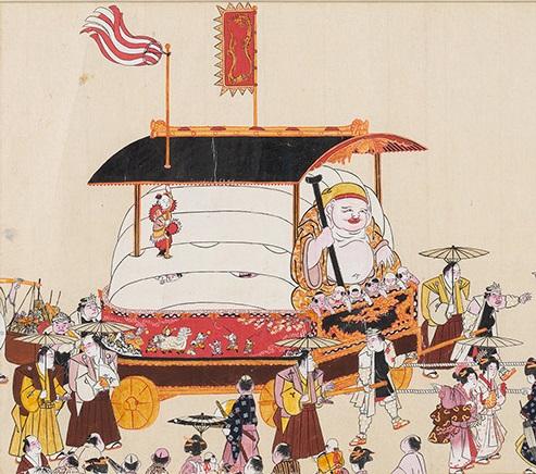 小浜祇園祭礼絵巻(小浜市指定有形民俗文化財、廣嶺神社所蔵)