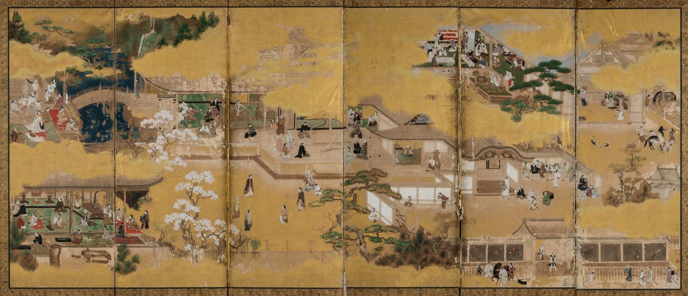 「武家邸内図屏風」(小浜市・萬徳寺所蔵)