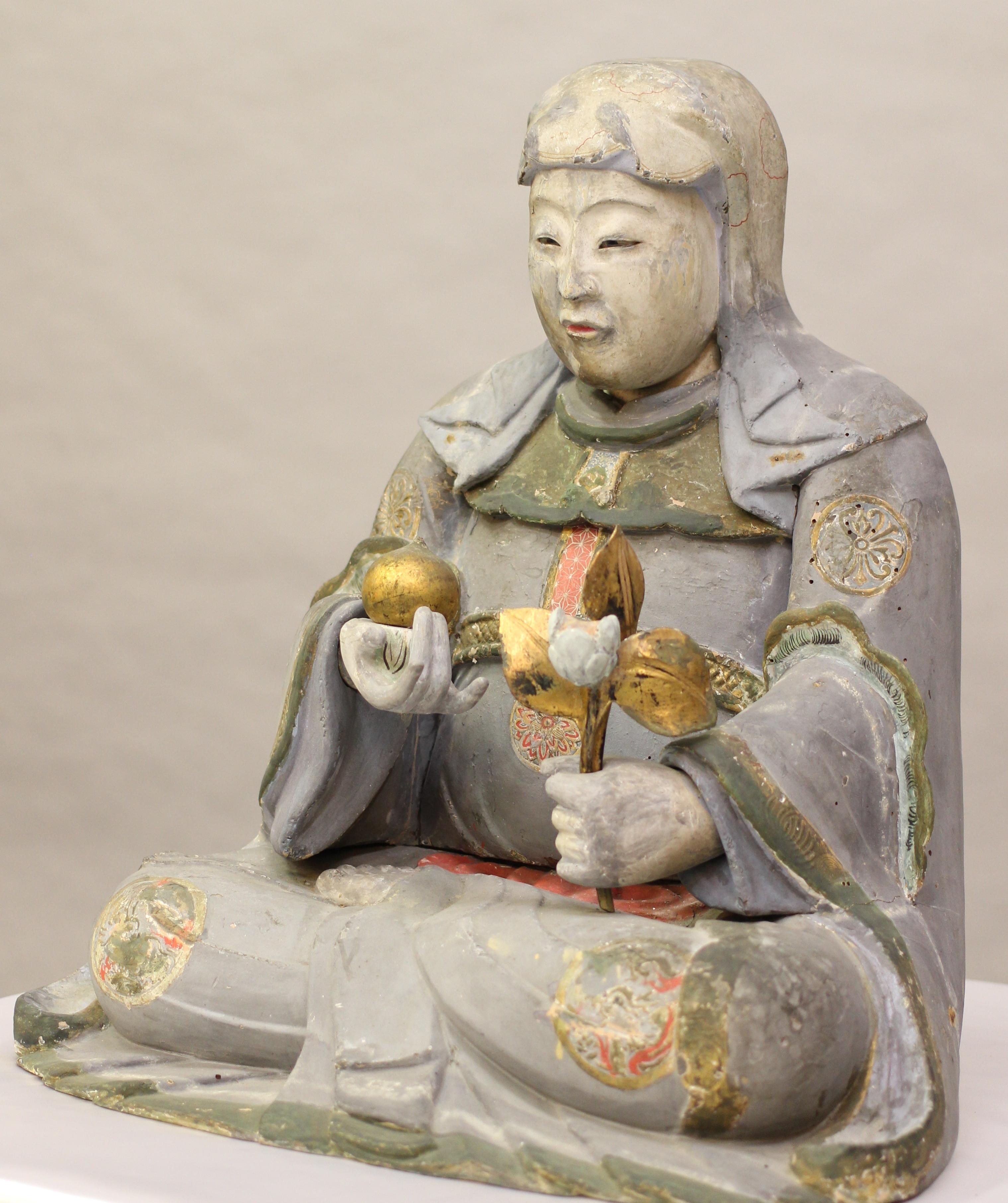 木造 八百比丘尼像(神明神社所蔵、江戸時代)