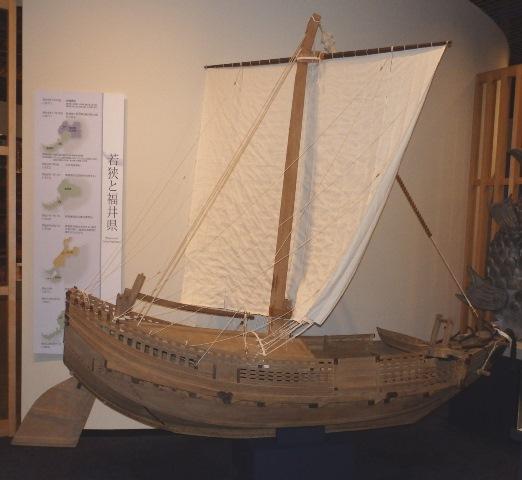 千石船 模型(複製、当館蔵)