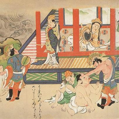 『彦火火出見尊絵巻』(明通寺蔵)