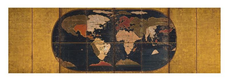 世界図屏風(当館蔵)