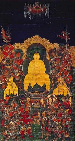 釈迦十六善神像(神宮寺蔵)